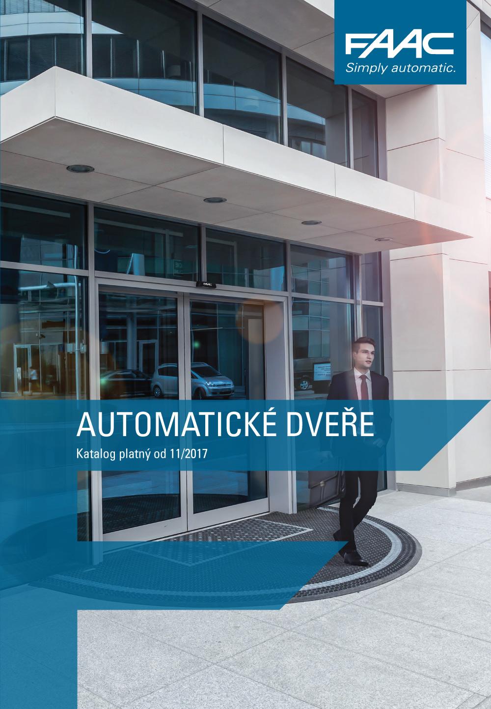 Katalog Automatické dveře FAAC 2017
